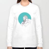 vikings Long Sleeve T-shirts featuring Ragnar Lothbrok / Vikings by Lucia Prieto Moreno