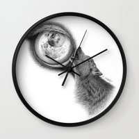 howl Wall Clocks featuring Howl by Dragons by Kris