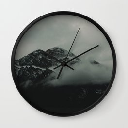 Misty Mountains in Canada Wall Clock
