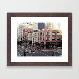 Downtown Houston Framed Art Print