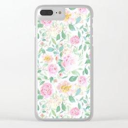 Farmhouse Floral Pastel Clear iPhone Case