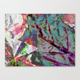 Polished Paper Structure  Canvas Print