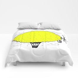 Lemon zeppelin Comforters