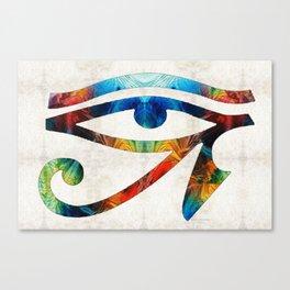 Eye of Horus - Art By Sharon Cummings Canvas Print