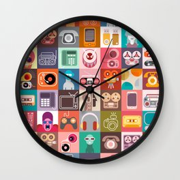Clip Art Collage Wall Clock