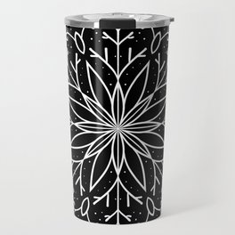 Single Snowflake - black Travel Mug