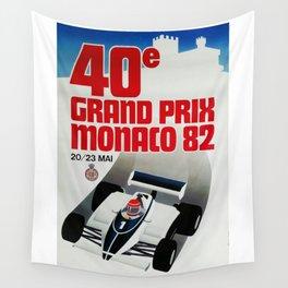Gran Prix de Monaco, 1982, original vintage poster Wall Tapestry