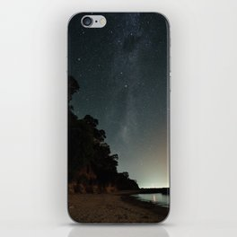 Milky way landscape at the coast of 'Colonia, Uruguay' iPhone Skin