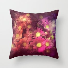 Flowers for someone / Vintage Flowers Throw Pillow