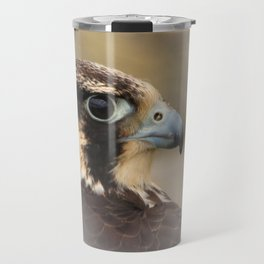 Vignetted Profile of a Peregrine Falcon Travel Mug