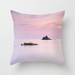 San Cristobal Reefs At Sunset . Throw Pillow