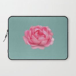 Rose on mint Laptop Sleeve