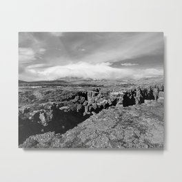 Þingvellir Clouds Metal Print