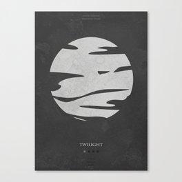 Twilight - minimal poster Canvas Print