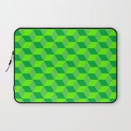 Classic cube/hexagon pattern in Green Laptop Sleeve