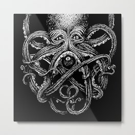 Magic Eight (neg) Metal Print
