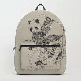Panda and Follow Fish Backpack