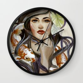 In a pond Wall Clock