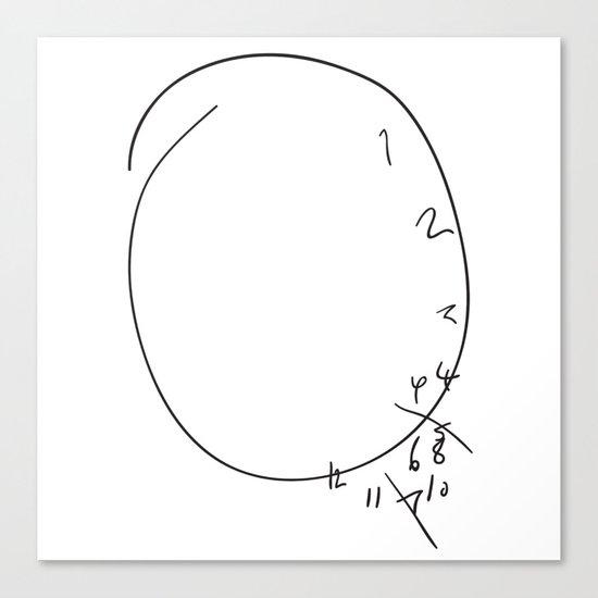 Savoureux - Hannibal Clock Canvas Print