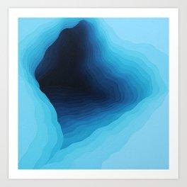 Cubed Glacier II Art Print