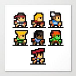 Minimalistic - Street Fighter - Pixel Art Canvas Print
