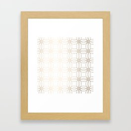 Simply Vintage Link in White Gold Sands on White Framed Art Print