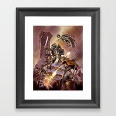 The Undead Strike Framed Art Print
