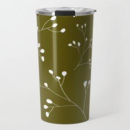 Olive floral pattern Travel Mug