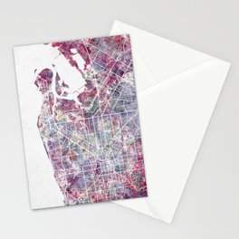 Adelaide map Stationery Cards