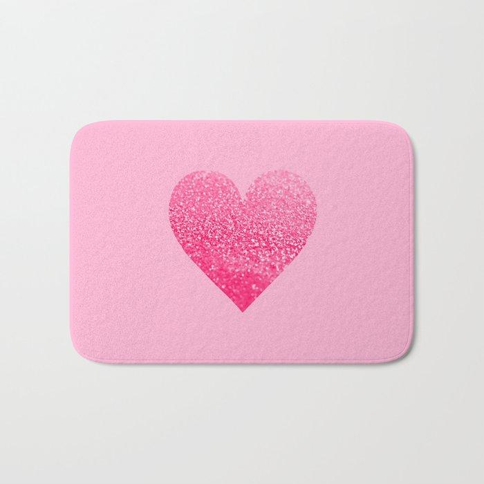 PINK PINK HEART Bath Mat