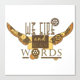 Cassandra Clare - We Live And Breathe Words Canvas Print
