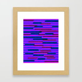 Confidential Stripes Framed Art Print