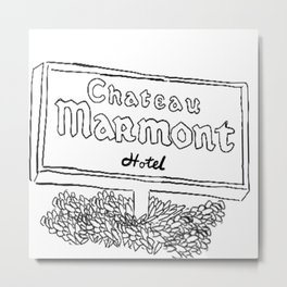 Chateau Marmont Sign Metal Print