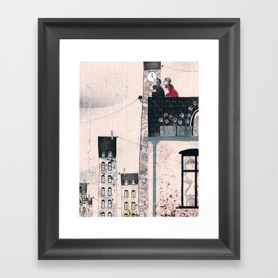 Snow Queen - Kay and Gerda Framed Art Print