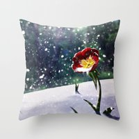 mockingjay Throw Pillows featuring Mockingjay by Tori Poole