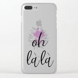 Text Art OH LA LA Clear iPhone Case