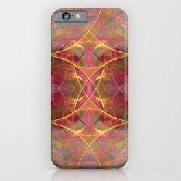 Fractal Art Owl Nebula iPhone Case