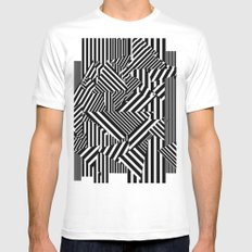 Dazzle Camo #01 - Black & White White Mens Fitted Tee 2X-LARGE