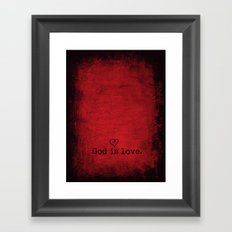God is Love Framed Art Print