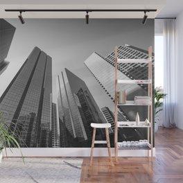 Calgary downtown Skyline in monochrome Wall Mural
