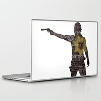 rick grimes Laptop & iPad Skins featuring Rick Grimes with Quotes by rlc82