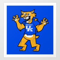 kentucky Art Prints featuring Kentucky by jublin