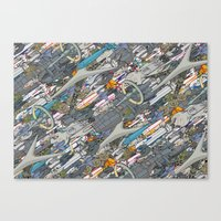 battlestar Canvas Prints featuring Battlestar by Guy Warley