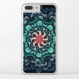 Abstract Floral Mandala Clear iPhone Case