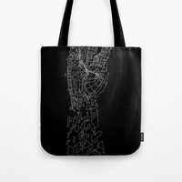 metal Tote Bags featuring Metal by Tombst0ne
