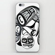 Raven Steals the Moon iPhone & iPod Skin