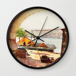 Vintage Stresa Italy Travel Wall Clock