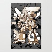 gundam Canvas Prints featuring Gundam Style by RiskeOne opc