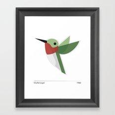 Muttervogel Framed Art Print