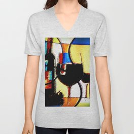 Another Glass of Wine Please Unisex V-Neck